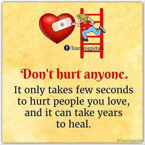 don't hurt anyone